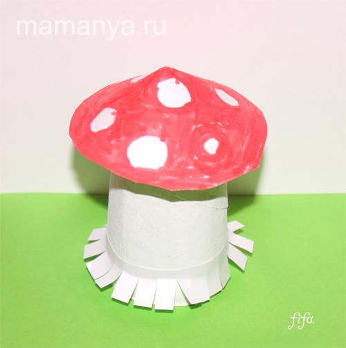 Грибы своими руками для детского сада из бумаги